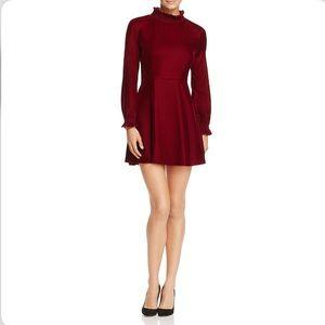 NWT Maje rilea red velvet dress